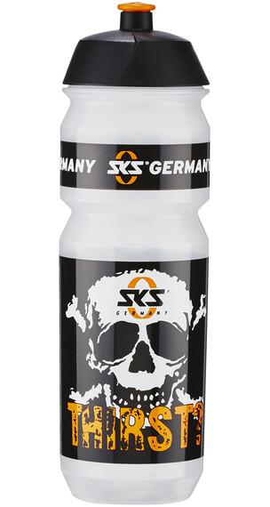 SKS Trinkflasche Totenkopf 750ml weiß/schwarz